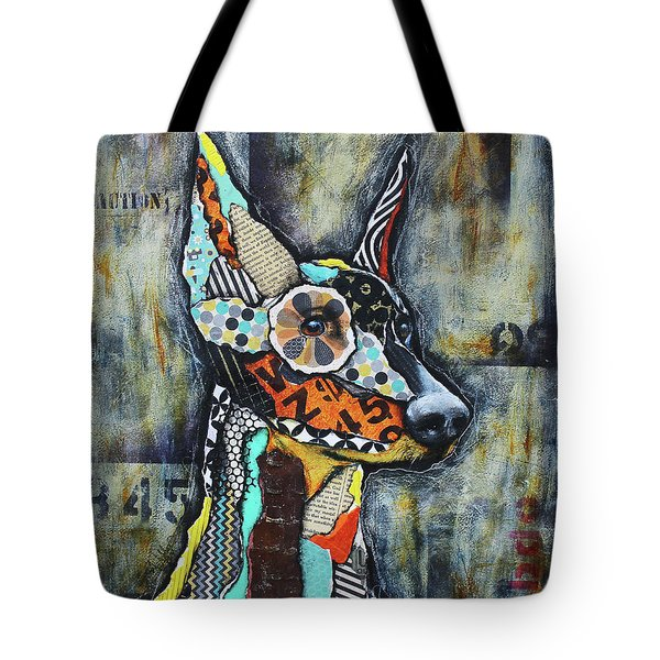 Doberman Pinscher Tote Bag by Patricia Lintner