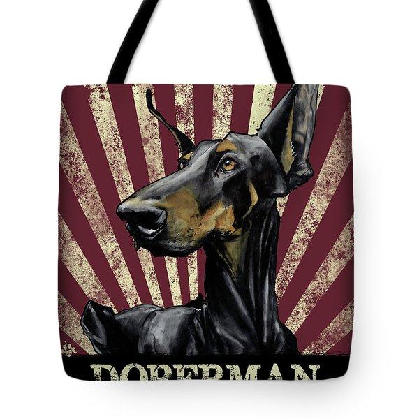 Doberman Revolution Tote Bag