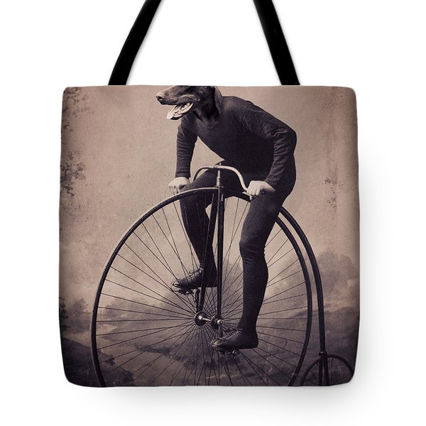 Doberman Velocipede Tote Bag by Aged Pixel