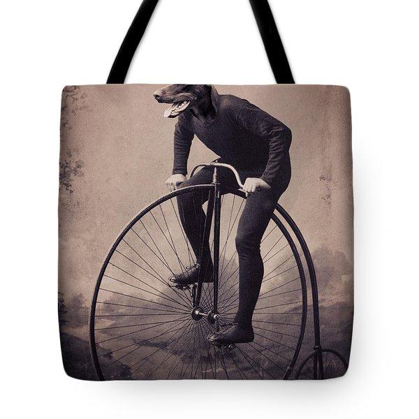 Doberman Velocipede Tote Bag