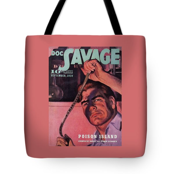 Doc Savage Poison Island Tote Bag