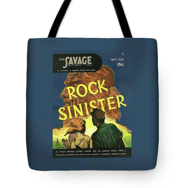 Doc Savage Rock Sinister Tote Bag