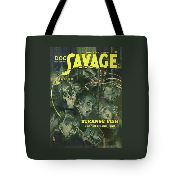 Doc Savage Strange Fish Tote Bag