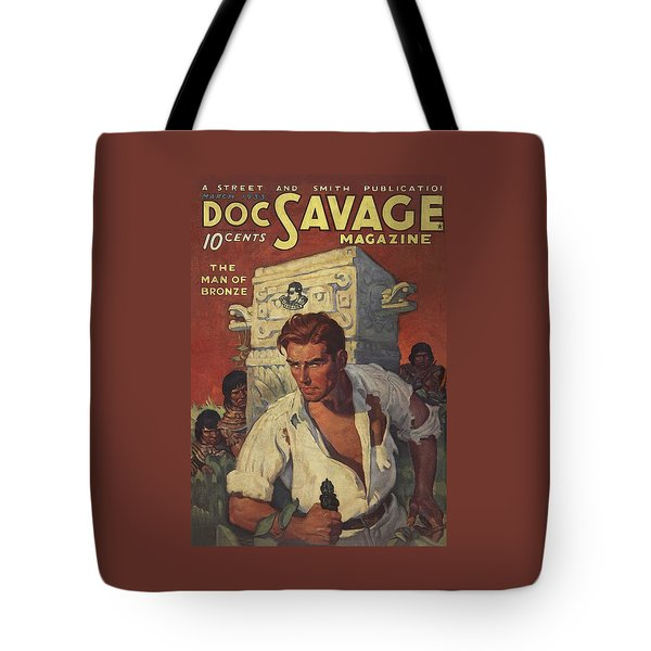 Doc Savage The Man Of Bronze Tote Bag