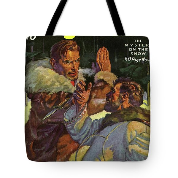 Doc Savage The Mystery On The Snow Tote Bag