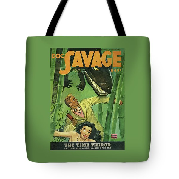 Doc Savage The Time Terror Tote Bag