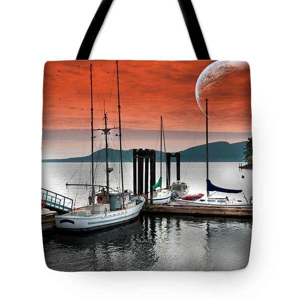 Dock And The Moon Tote Bag
