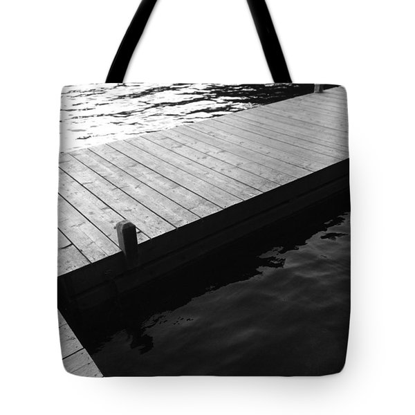 Dock In Black And White Tote Bag