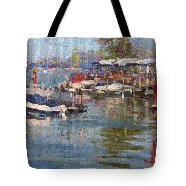Dock In North Tonawanda Tote Bag