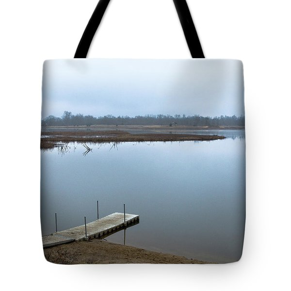 Dock On A Serene Lake Tote Bag