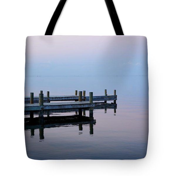 Tote Bag featuring the photograph Dock On The Indian River by Bradford Martin