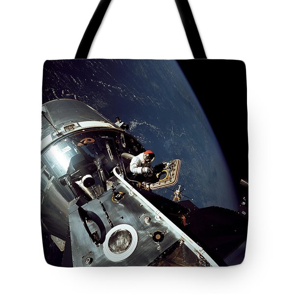 Docked Apollo 9 Command And Service Tote Bag by Stocktrek Images