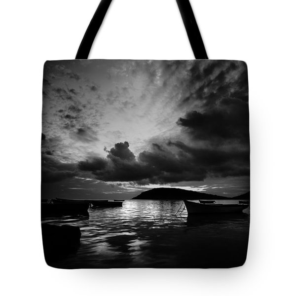 Docked At Dusk Tote Bag
