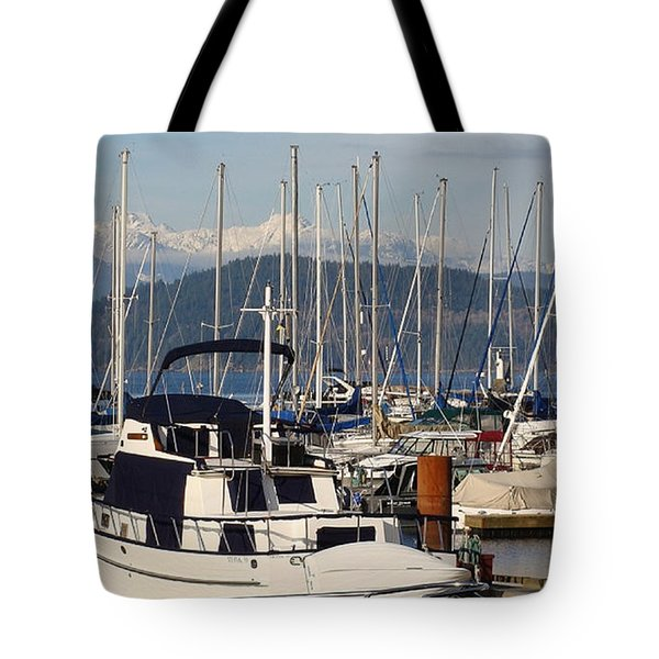 Docked For The Day Tote Bag by Rod Jellison