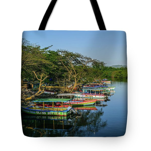 Boats By The River Tote Bag