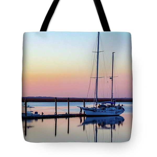 Docked On Jekyll Island Tote Bag