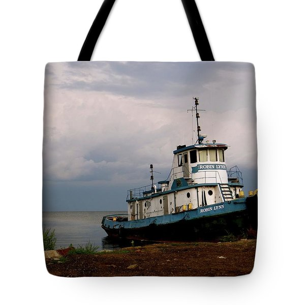 Docked On The Shore Tote Bag