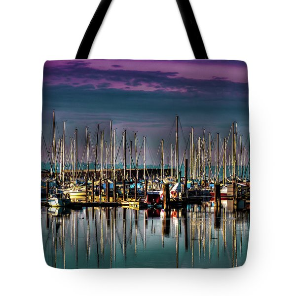 Docked Sailboats Tote Bag by David Patterson