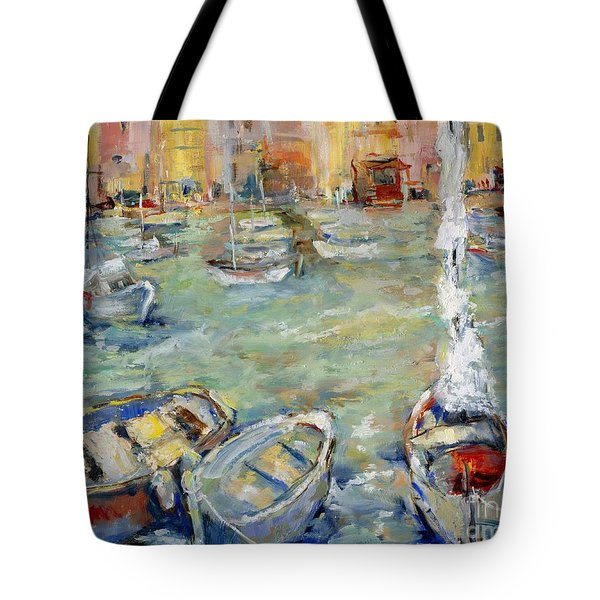 Docking In Cassis Tote Bag
