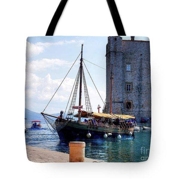 Docking In Dubrovnik Harbour Tote Bag