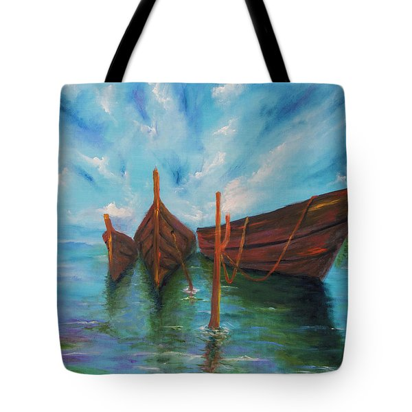Docking Tote Bag by Itzhak Richter