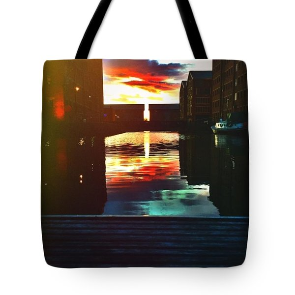 Dockland Sun Down Tote Bag
