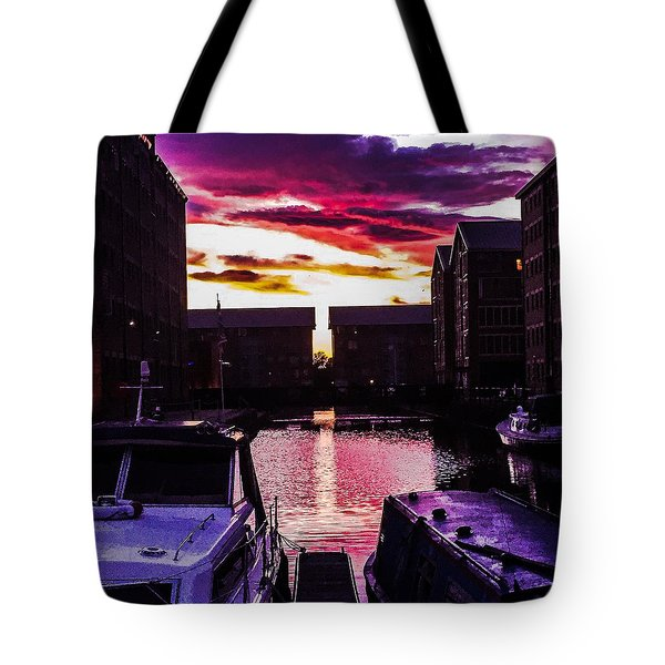 Dockland Sunset Tote Bag