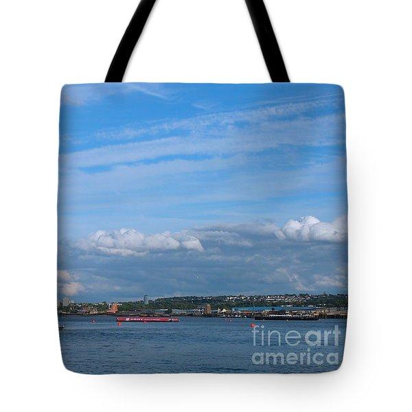 Docklands And Skyline Tote Bag