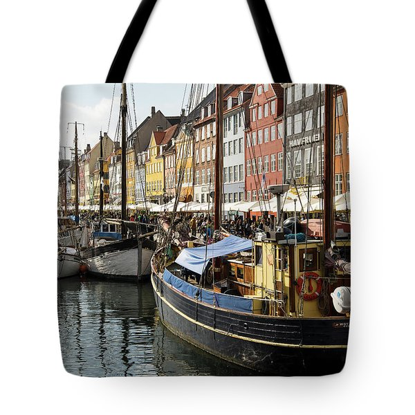 Dockside At Nyhavn Tote Bag