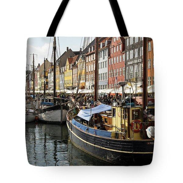 Dockside At Nyhavn Tote Bag