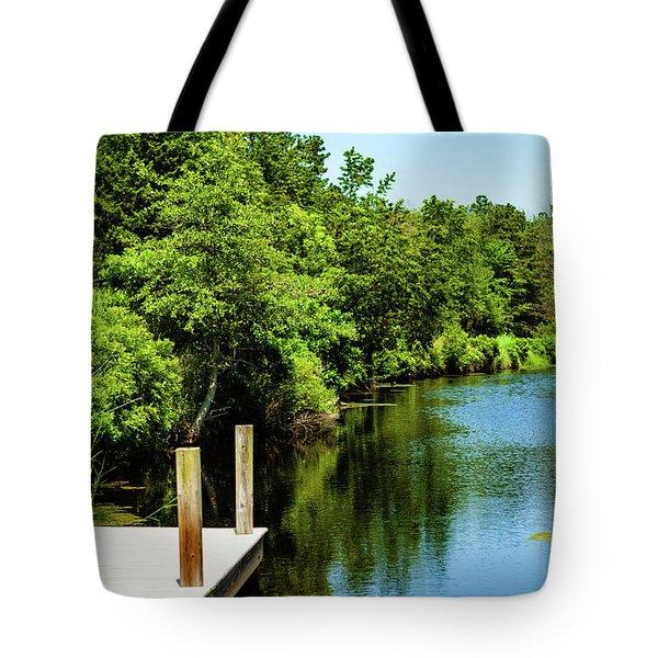 Dockside In Delaware Tote Bag