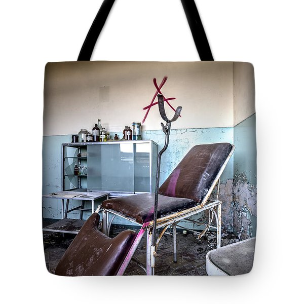 Doctor Chair Awaits Patient - Urbex Tote Bag