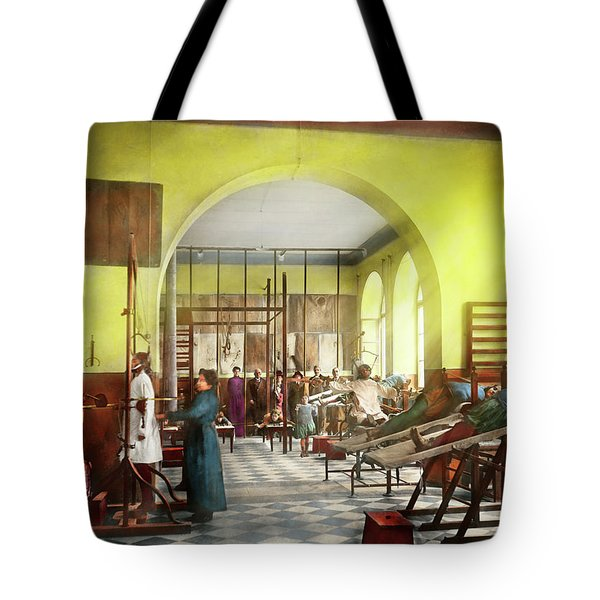 Tote Bag featuring the photograph Doctor - Physical Therapist - Welcome To The A Traction 1918 by Mike Savad