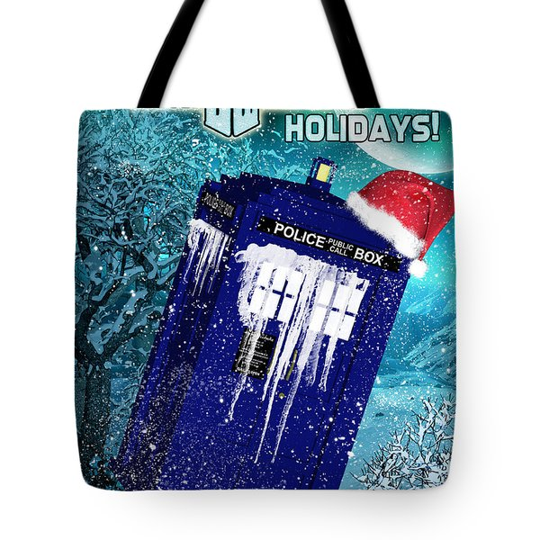 Doctor Who Tardis Holiday Card Tote Bag
