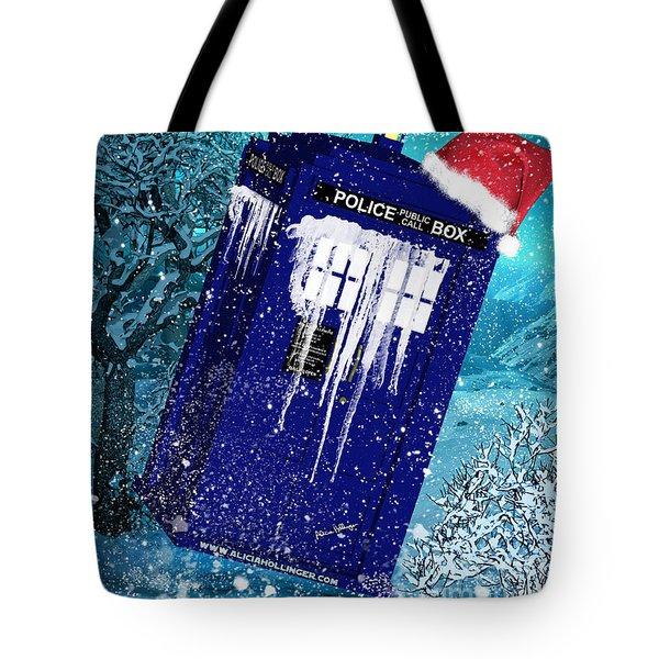 Doctor Who Tardis Holiday Card Tote Bag