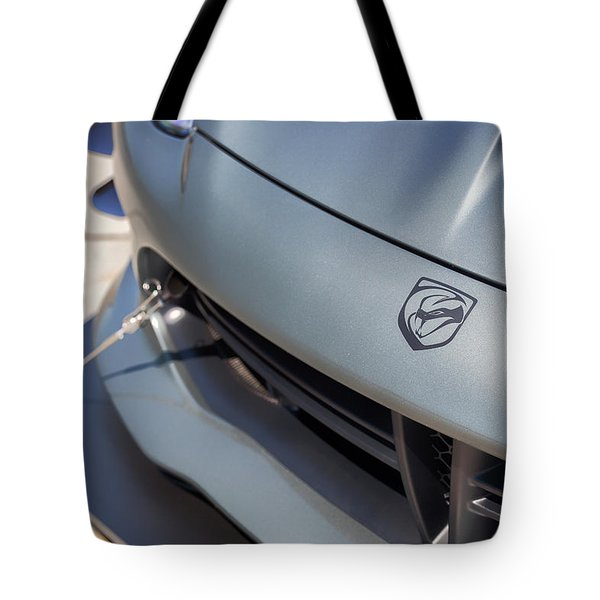 Tote Bag featuring the photograph #dodge #acr #viper #print by ItzKirb Photography