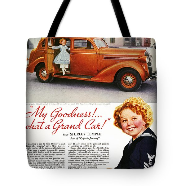 Dodge Automobile Ad, 1936 Tote Bag by Granger