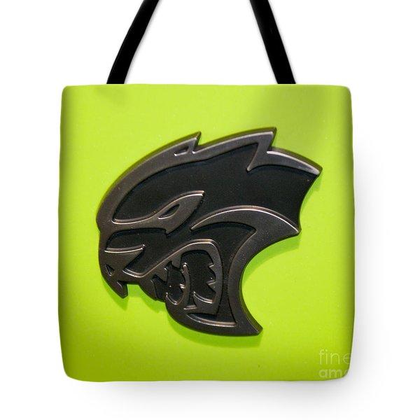Dodge Challenger Srt Hellcat Emblem Tote Bag