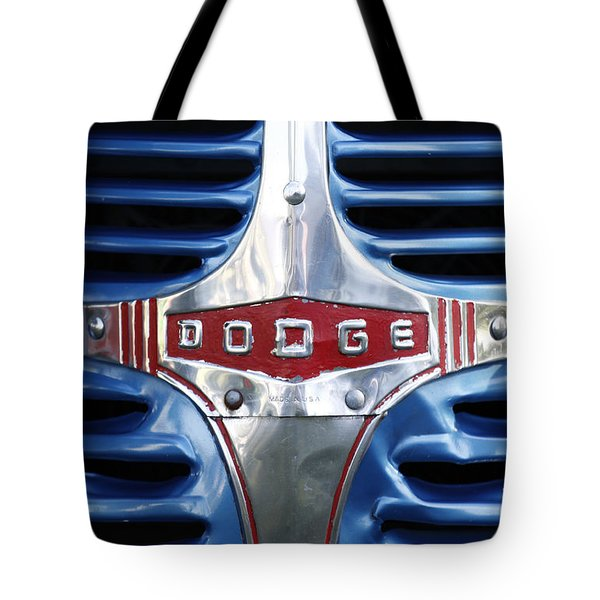 46 Dodge Chrome Grill Tote Bag