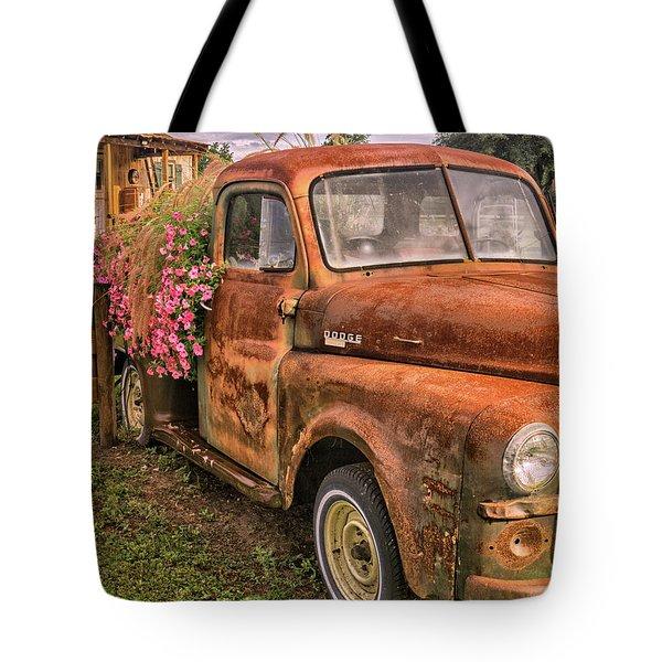 Dodge Flower Pot Tote Bag