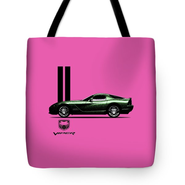 Dodge Viper Snake Green Tote Bag