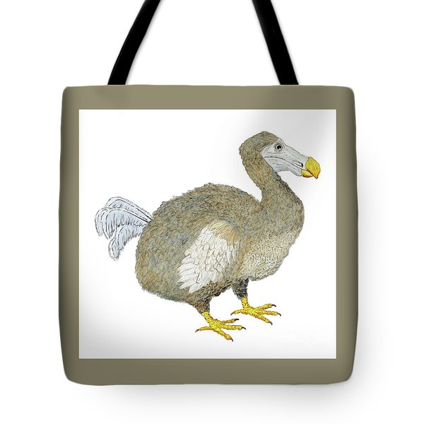 Tote Bag featuring the painting Dodo Bird Protrait by Thom Glace
