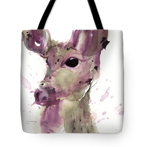 Tote Bag featuring the painting Doe by Dawn Derman