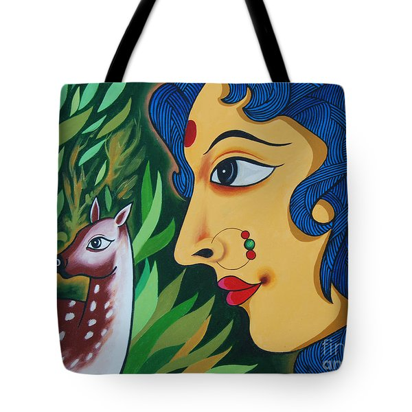 Doe-eyed Tote Bag by Ragunath Venkatraman