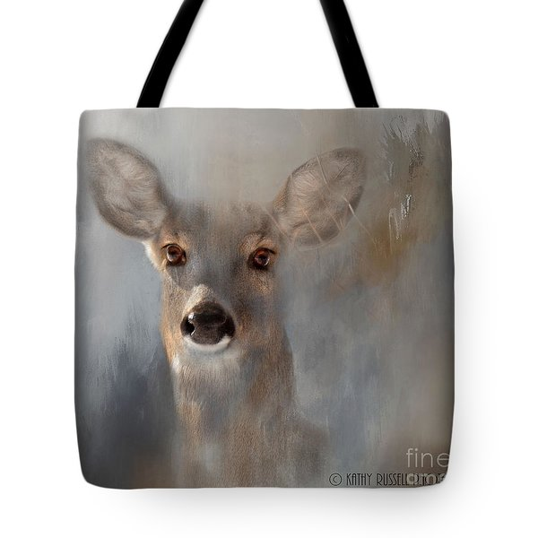 Doe Eyes Tote Bag by Kathy Russell