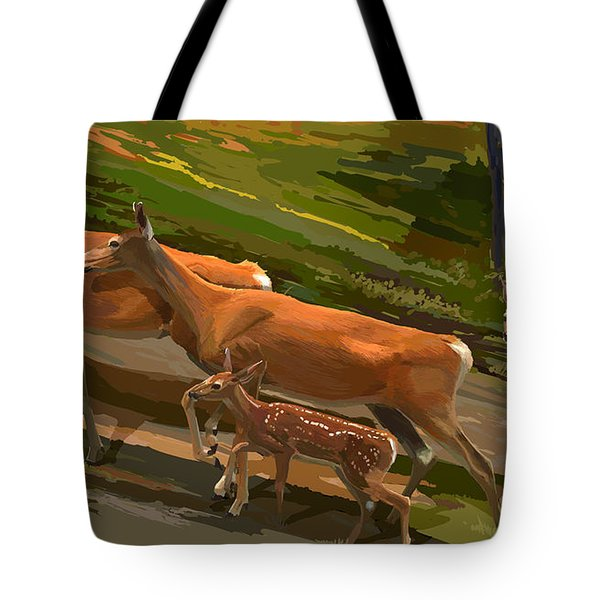 Does And Fawns Tote Bag