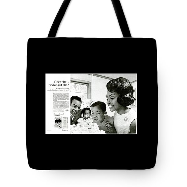 Tote Bag featuring the digital art Does She Or Doesn't She by ReInVintaged