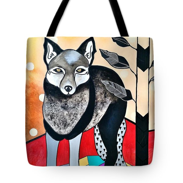 Tote Bag featuring the painting Dog by Amy Sorrell