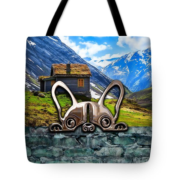 Dog And Landscape Collection Tote Bag