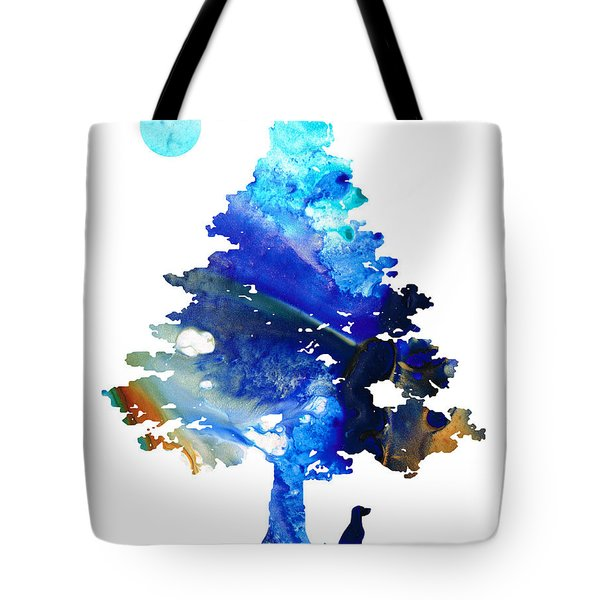 Dog Art - Contemplation - By Sharon Cummings Tote Bag